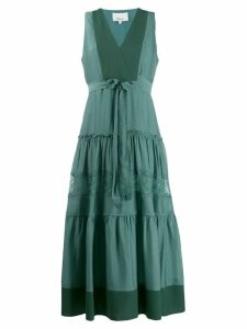 3.1 Phillip Lim V-neck belted midi dress - Green