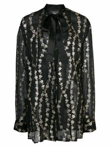 Haider Ackermann floral embroidery sheer blouse - Black