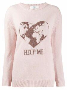 Alberta Ferretti cashmere intarsia jumper - Pink