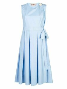 Marni sleeveless pleated dress - Blue
