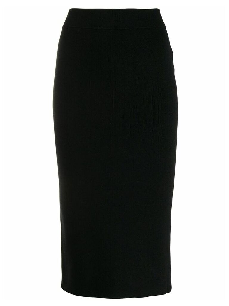 T By Alexander Wang Foundation bodycon skirt - Black