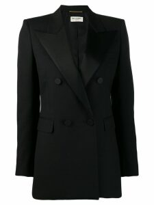 Saint Laurent tailored tuxedo blazer - Black