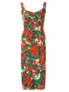 Dolce & Gabbana portofino print cady bustier dress - Red