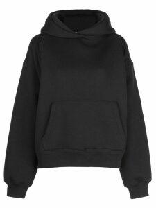 T By Alexander Wang deconstructed hoodie - Black