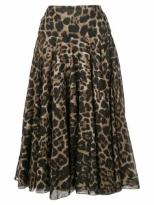Samantha Sung Aster Skirt - Brown
