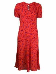 McQ Alexander McQueen floral print midi dress - Orange