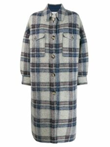 Isabel Marant Étoile Gabrion blanket coat - Blue