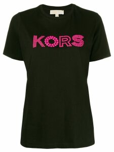 Michael Michael Kors beaded detail T-shirt - Black