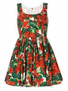 Dolce & Gabbana portofino print poplin dress - Red