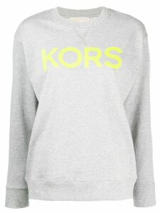 Michael Michael Kors printed logo jumper - Grey
