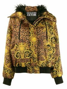 Versace Jeans Couture Baroque pattern hooded jacket - Gold