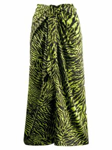 Ganni animal print skirt - Green