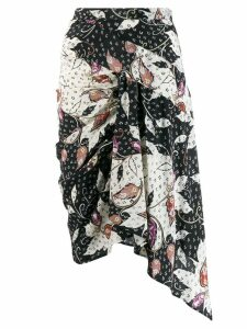 Isabel Marant Roly printed stretch skirt - Black