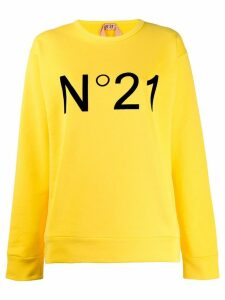 Nº21 printed logo sweatshirt - Yellow