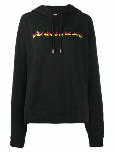 Dsquared2 oversized logo hoodie - Black