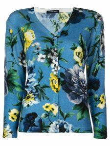 Samantha Sung Charlotte floral print cardigan - Blue