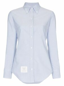 Thom Browne logo patch shirt - Blue