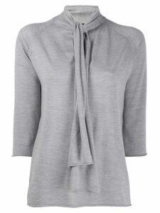 Joseph neck-tied blouse - Grey
