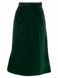 Batsheva velvet flared midi skirt - Green