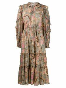 Ulla Johnson paisley flared dress - Green