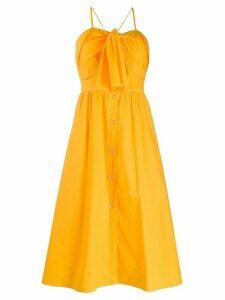 SJYP front tie midi dress - Yellow