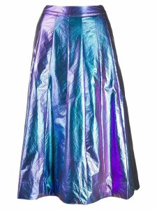 Essentiel Antwerp metallic A-line skirt - Blue