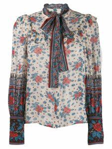 Ulla Johnson floral long-sleeve blouse - Neutrals