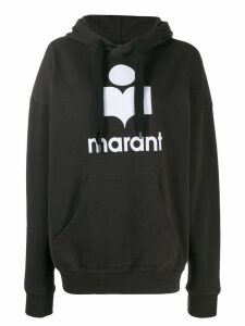 Isabel Marant Étoile logo print hoodie - Black