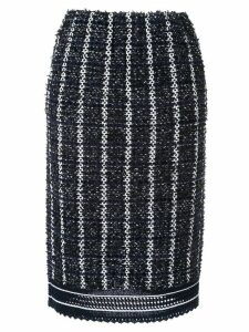 Coohem sailor tweed pencil skirt - Blue