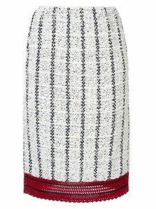 COOHEM sailor tweed skirt - White