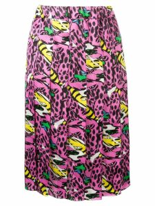Marni printed pleated skirt - PINK