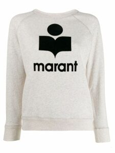 Isabel Marant Étoile logo embroidered sweater - Neutrals