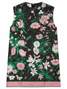 Gucci sleeveless floral blouse - Black