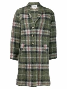 Isabel Marant Étoile plaid single-breasted coat - Green