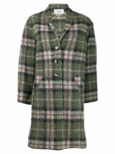 Isabel Marant Étoile plaid single-breasted coat - Green
