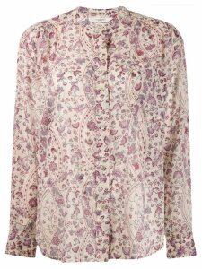 Isabel Marant Étoile floral long-sleeve top - Neutrals