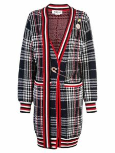 Monse vintage plaid cardi-coat - Red