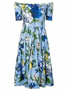 Samantha Sung Florance floral off-shoulder dress - Blue