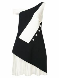 Comme Moi deconstructed midi dress - Black