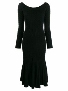 Alexander McQueen cable knit dress - Black