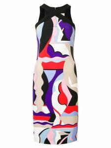 Emilio Pucci Cross Front Vallauris Print Dress - Purple