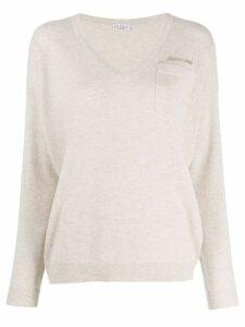 Brunello Cucinelli knit V-neck sweater - Neutrals