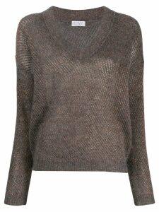 Brunello Cucinelli V-neck jumper - Grey