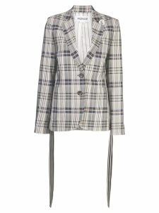 Monse vintage plaid blazer - Grey