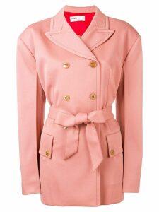 Sonia Rykiel tie waist blazer - Pink