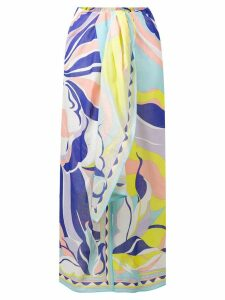 Emilio Pucci Rivera Print Sarong Skirt - Purple