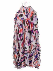 Emilio Pucci halter neck ruffle mini dress - Pink