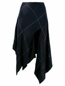 Monse asymmetrical skirt - Blue