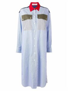 Sonia Rykiel striped shirt dress - Blue