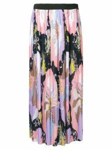 Emilio Pucci Mirabilis Print Plissé Pleated Skirt - Pink